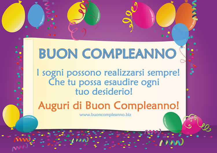 Famoso Buon Compleanno - Sito dedicato agli auguri di Buon Compleanno QF16
